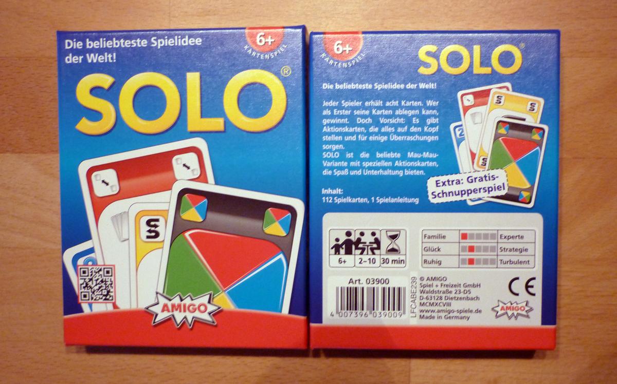 SOLO - Spielvorstellung + Verlosung | Besser für uns!